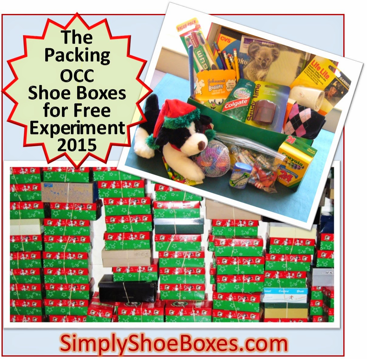 Packing OCC Shoe Boxes for Free Experiment 2015
