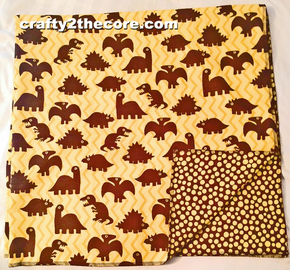 ~Reversible Baby Blanket~ {by crafty2thecore.com}