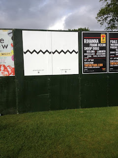 Glasvegas posters on the green