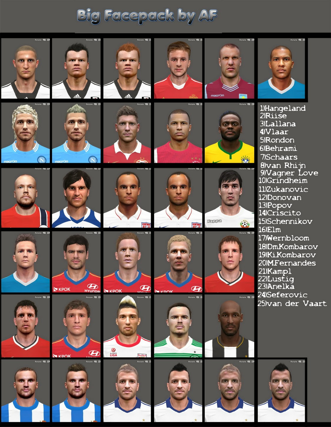 PES 2014 Big Facepack by AF