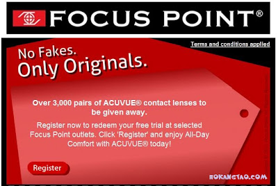 free Acuvue lenses