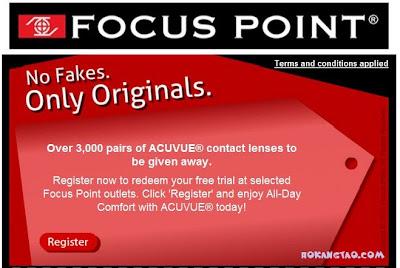 free Acuvue lenses