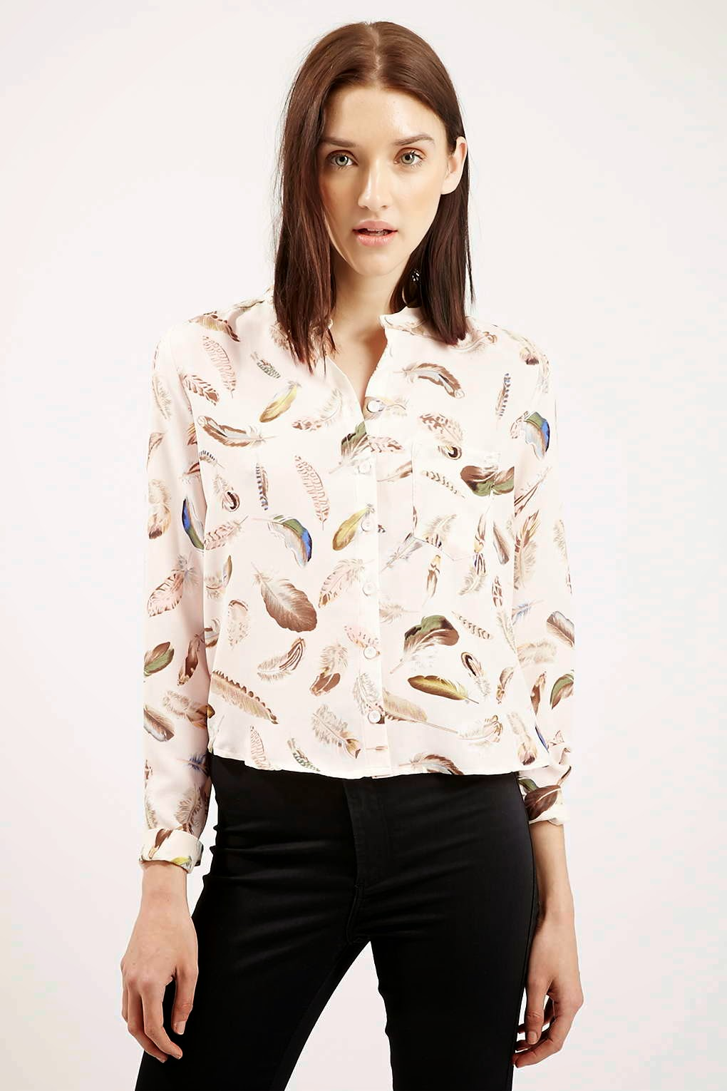 feather print blouse, sister jane feather shirt,