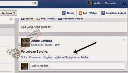 twitter ke fb lewat blackberry, handphone android, opera mini