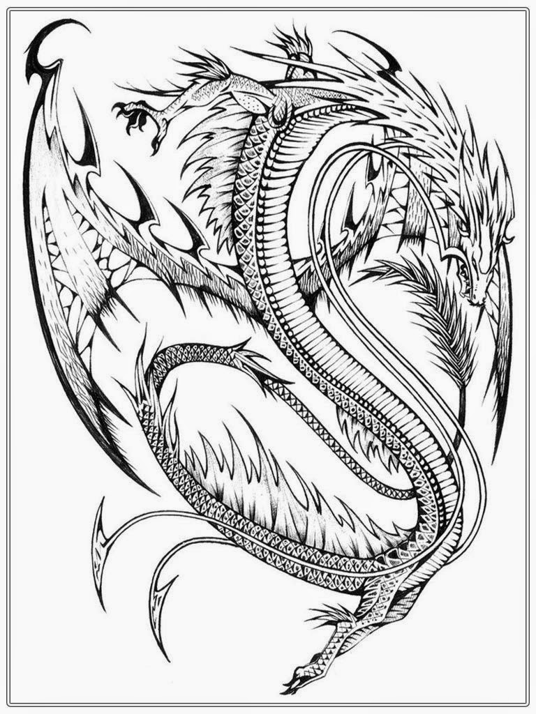 dragon adult coloring pages - photo#12
