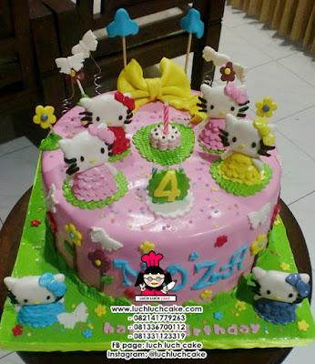 Kue Tart Hello Kitty Fondant