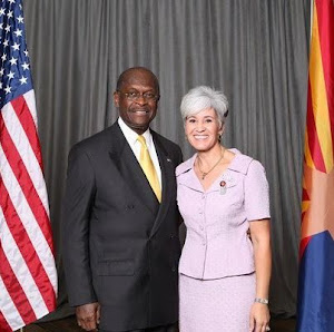 Saucedo Mercer and Herman Cain