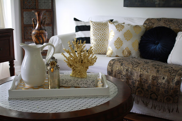 Black, White, and Gold Home Decor
