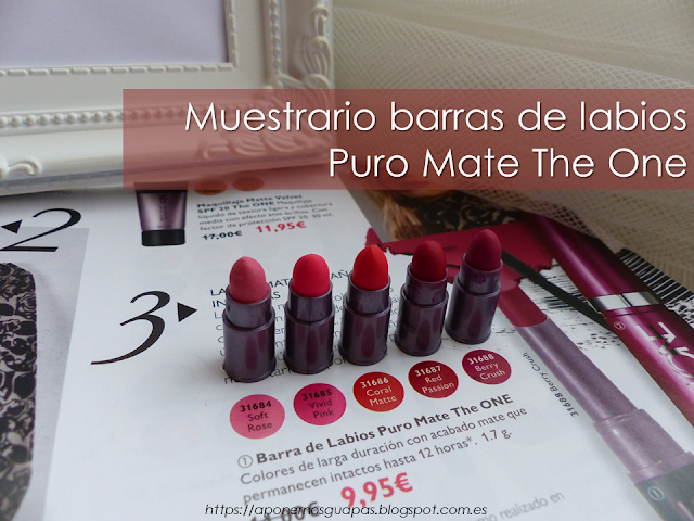 Muestrario Puro Mate The One Oriflame