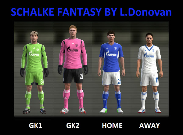 PES 2013 Schalke 04 Fantasy Kits by Donovan