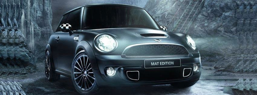 Belle image de couverture facebook mini cooper noir