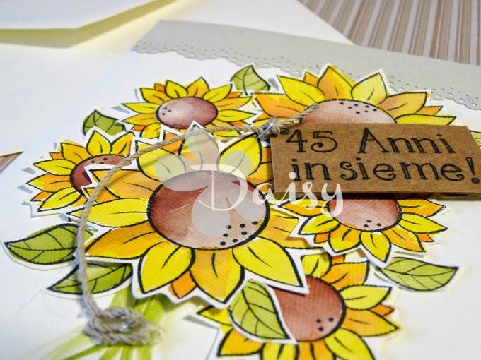 Anniversario Matrimonio Auguri Romantici : Daisy handmade biglietto di auguri per anniversario