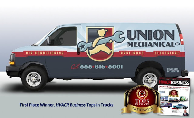 fleet wrap desing for HVAC contractor