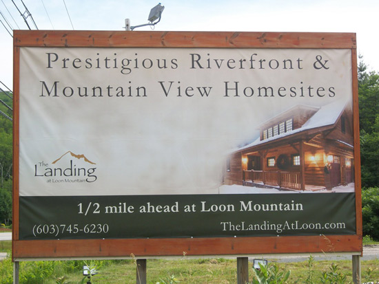 loon mountain billboard typo