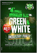 Thu/21/Aug: NIGERIAN DJS UK Grean & White Industry Party 2014