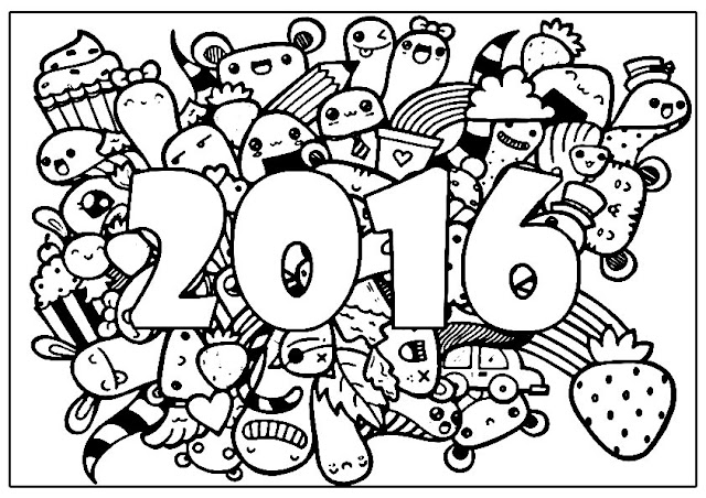 2016 Adults Coloring Pages Free