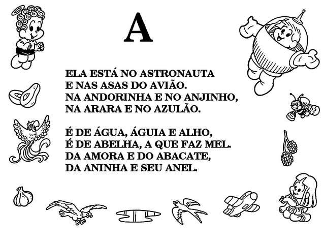 Well-known Alfabetizando com a Turma da Mônica Textos - Letra A. - Aprender e  SH53