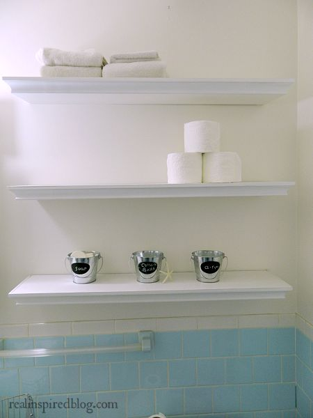 Styling Bathroom Shelves in 15 Minutes and Settling for Done, not Perfect.