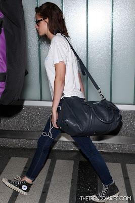 Kristen Stewart Airport Street Style