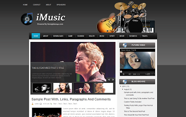 iMusic Blogge Template