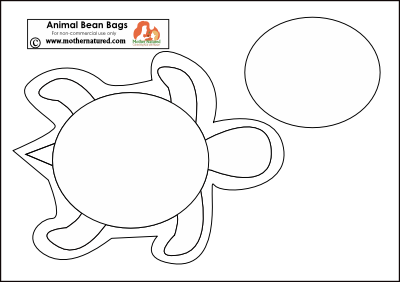 Turtle beanbag template