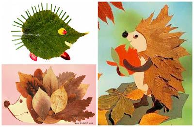 осенние поделки из сухих листьев