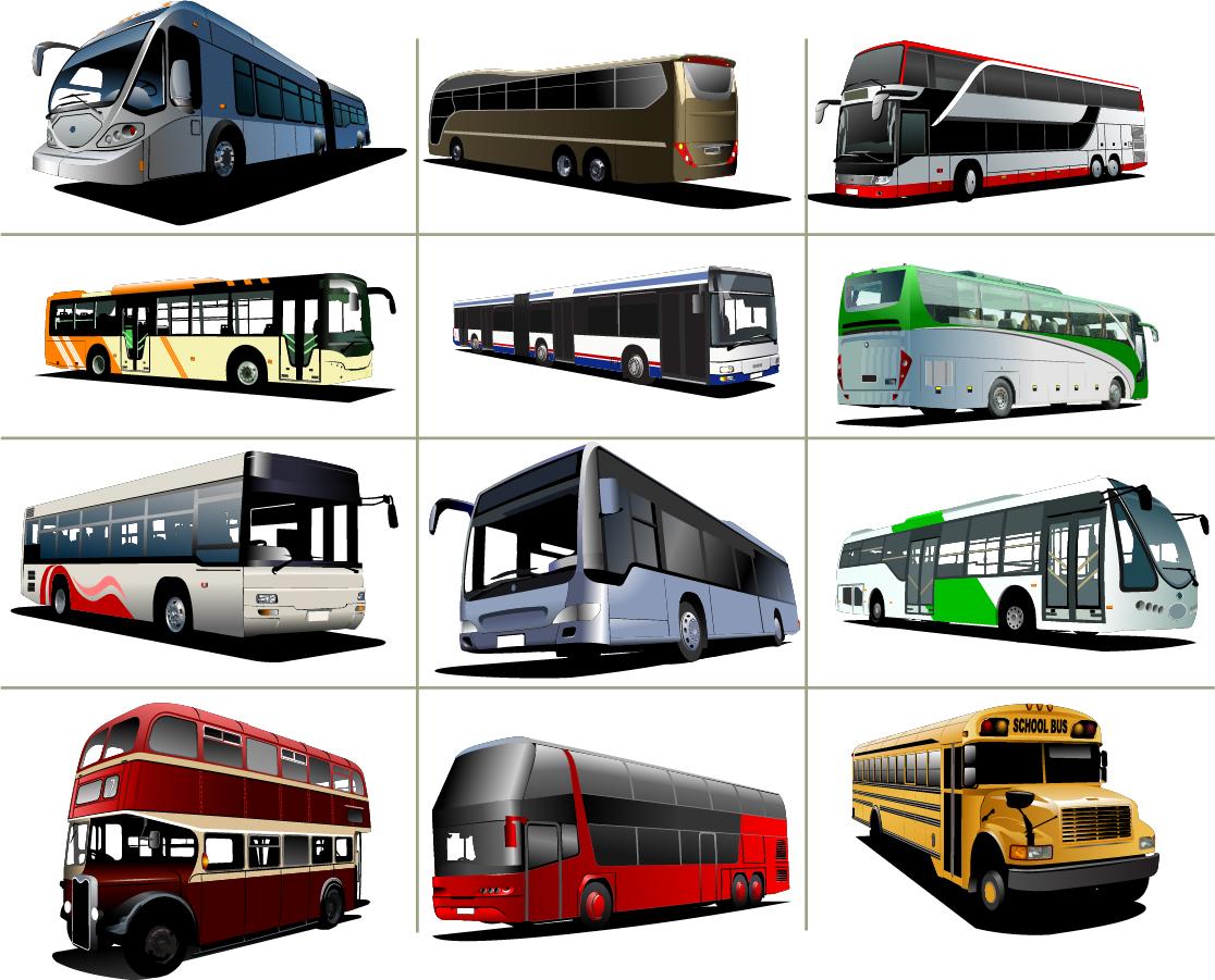 観光バスのクリップアート travel transport car bus イラスト素材3