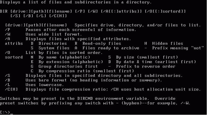 DOS, тогда качайте данный справочник по командам DOS. . Данными командами