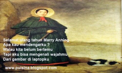 Puisi Ulang Tahun Mary Anning