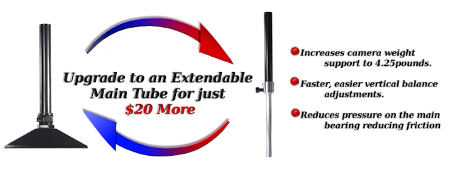 Upgrade to an extendable main to on your MiniDV Stabilizer Pro Camera Stabilizer Purchase