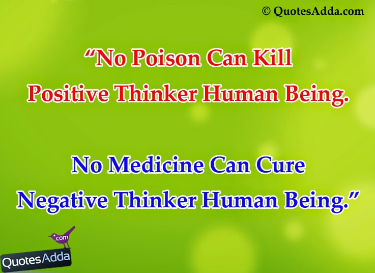positive vs negative thinker 39 s quotes in english