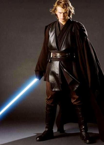 Foto de Anakin de Star Wars con su espada