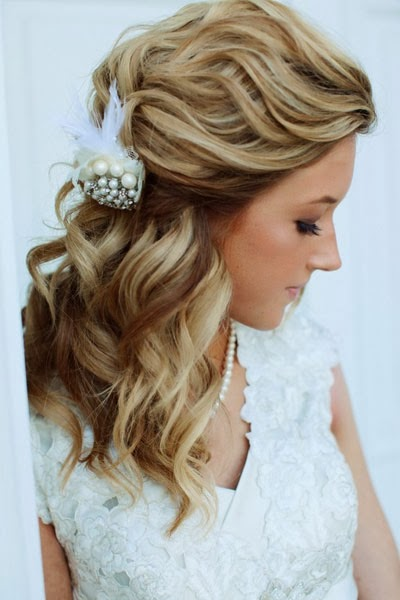 wedding long hairstyles Vintage Bridal Jewelry Sets Pearl Wedding Jewelry for Brides