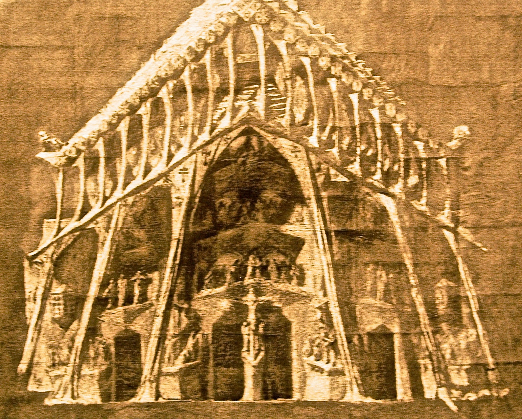 Gaudí's sketch for the Passion Facade