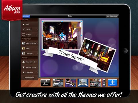 Album app rende facile creare album fotografici digitali sul l ipad