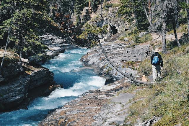 Stanley Falls, Jasper National Park, Alberta, Canada
