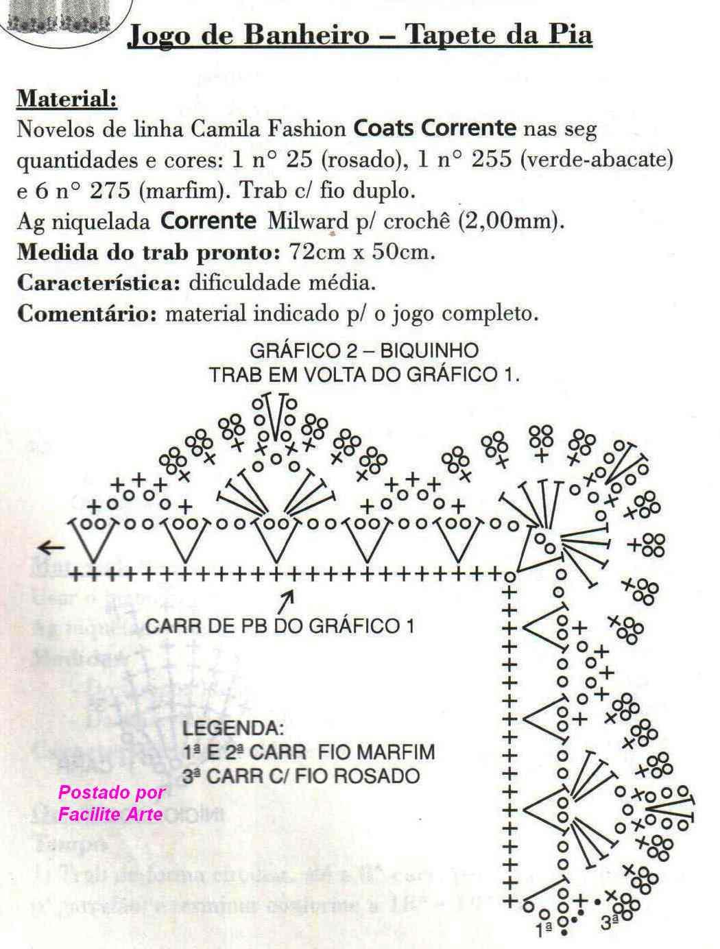 Facilite Sua Arte: Jogo de Banheiro 2 Tapete da Pia #B4179A 1050 1384