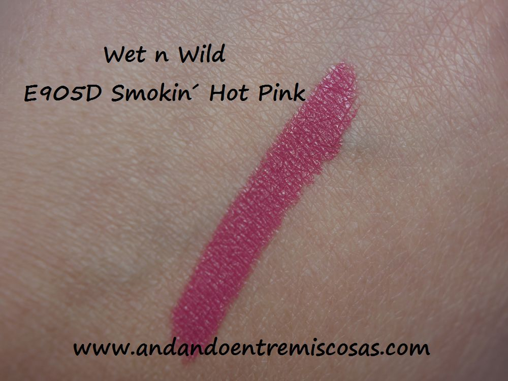 Wet n Wild, 905 Smokin´ Hot Pink, Swatch