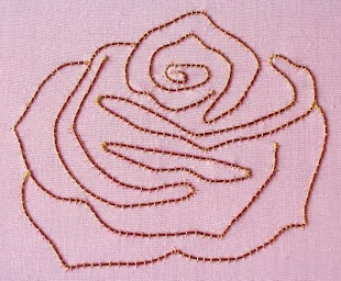 Couched Rose