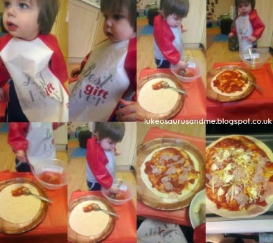 The Tickle Fingers Cookbook // Annabel Woolmer // Tortilla Pizza // Fight Against The Fuss!! // Fighting against my son's fussy eating using this wonderful cookbook. // www.lukeosaurusandme.blogspot.co.uk