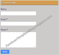 Contact Form Widget Terbaru Formulir Kontak Blogspot