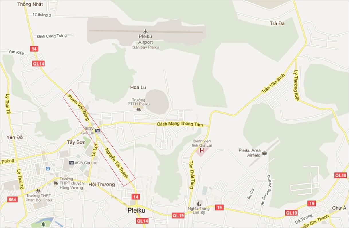 The Map of Pleiku City Gia