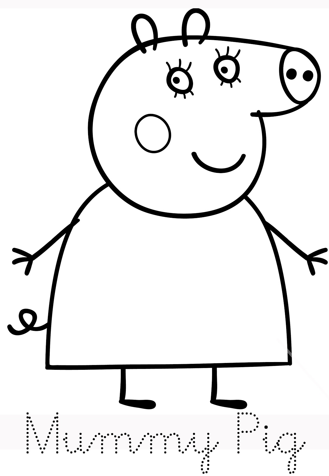 Cook tumble free colouring pages for Peppa pig drawing templates
