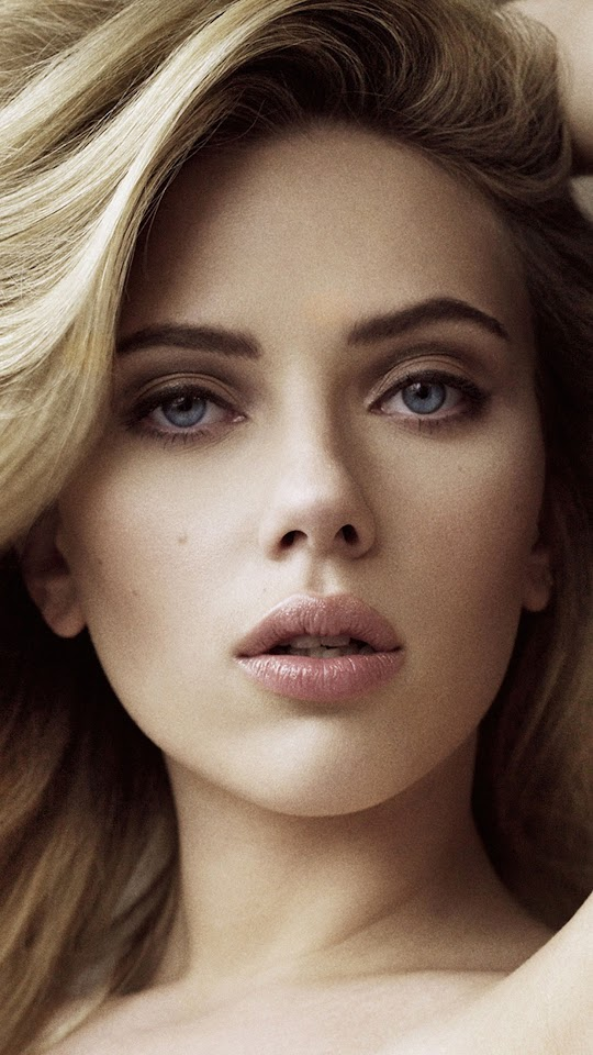 Scarlett Johansson Blonde Blue Eyes  Galaxy Note HD Wallpaper