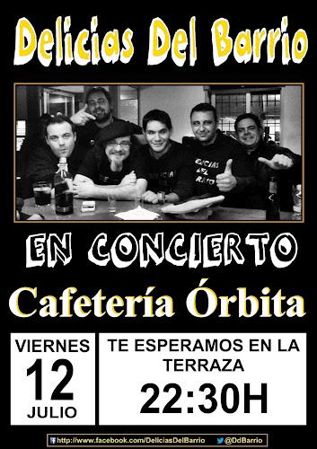 Delicias del Barrio en Cafetería Órbita. San Miguel de Salinas, viernes 12-07-2013