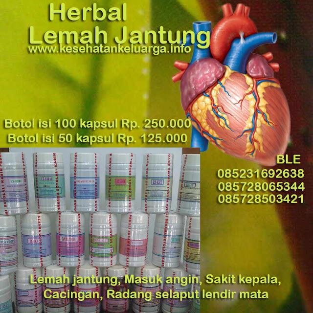 Herbal lemah jantung 085231692638 atau 085728065344 atau 085728503421 BLE keluargasehat