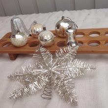 Underbart julpynt i silver till salu på Tradera