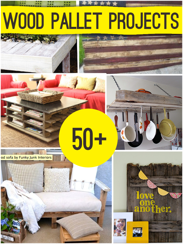 50 wood pallet projects diy craft projects