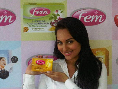 Sonakshi Sinha Promotes Dabur Fem Fairness Bleach