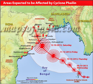 Cyclone Phailin prediction by IMD